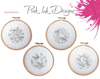 Bird embroidery pattern.