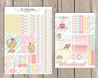 Marie Antoinette Planner Stickers, for use with Erin Condren, Functional Stickers, ECLP, kikki k, planner stickers, weekly kit, eat cake