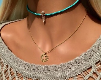 Heart Necklace - Heart Necklace - Infinity Necklace - Infinity Necklace - Karma Necklace - Valentines Day Gift - Gold Vermeil Necklace