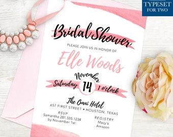 Bridal Shower Invitation - Pink - Wedding - Bridal - Printable - Instant Download
