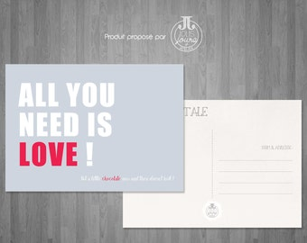 """Postcard Beatles """"All you need is Love"""""""