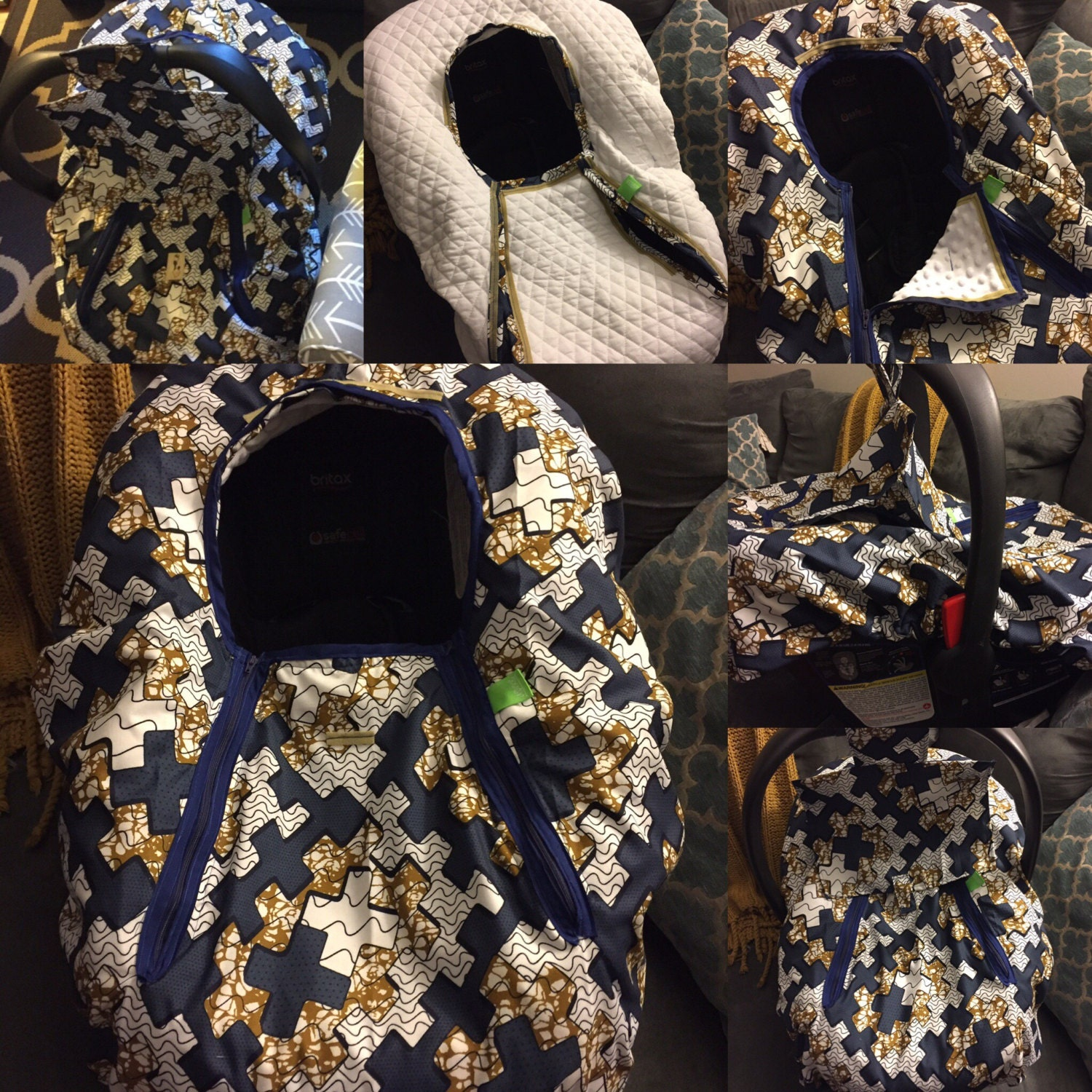 Car Seat Cover With Removable Quilted Lining