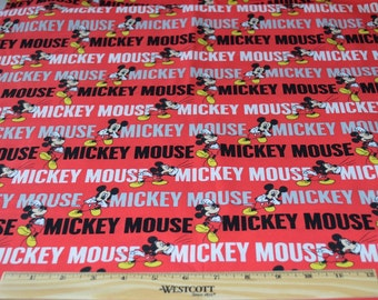 MICKEY MOUSE FABRIC!   1/2 Yard For Quilting / Disney