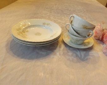 Victoria Austria tea set service for 4, total 8. Replacement Home decor Gift