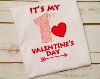 My First Valentines Day shirt, My First Valentine's Day jumper, Custom Shirt, Custom Valentines Day Shirt, Personalized Shirt