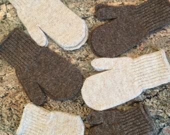 Infant, Toddler and Children's Alpaca Mittens