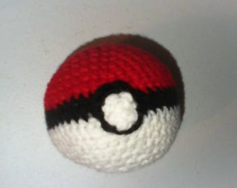 Crocheted Pokeball Plushie/Stress Ball