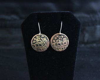 Etched Copper Earrings (05212017-029)