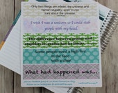 SARCASTIC Sidebar Stickers for ECLP Vertical Weekly Layout, Funny Sidebar Stickers, Funny Stickers for EC