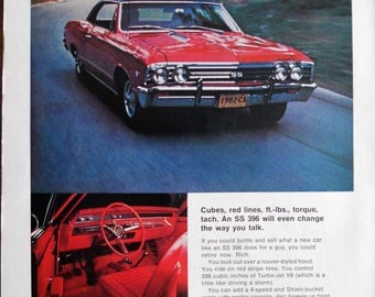 1967 Chevrolet Chevelle SS 396 ad.  1967 Chevelle SS 396.  Vintage Chevy Chevelle SS 396.  Time Magazine.  February 3, 1967.