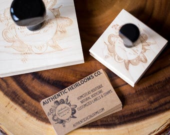 Small Biz Branding Package - Logo design, business cards, custom stamp, labels - for Farms, CSAs, Makers, Etsy sellers, Handcrafted goods