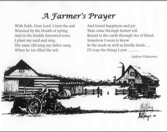 A Farmers Prayer by Artist Michael Solovey