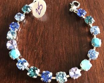 6mm baby blues bracelet