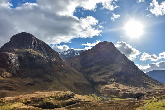 "Landscapes - ""Glencoe - Beautiful Scottish Scenery"", Digital Download,Scottish Photography, Landscape Photography,Wall Decor, Scotland Print"