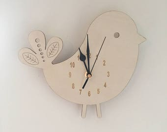Wooden Wall Hanging Clock. FREE SHIPPING!