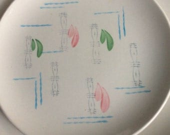 GIEN EARTHENWARE Mid Century Pastels Abstract Dinnerware Set