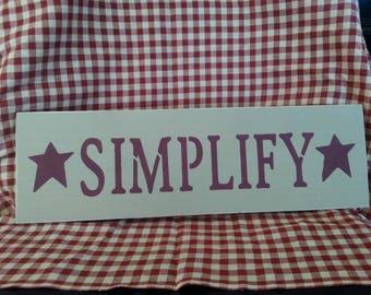 Simplify Sign