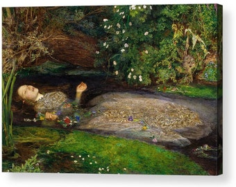 "John Everett Millais ""Ophelia"" Canvas Box Art A4, A3, A2, A1 ++"