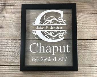 Wedding, Wedding Gift, Wedding Gift Ideas, Personalized Gift, Gifts for Couple, Gifts for Bride, Established Sign, Last Name Sign, Weddings