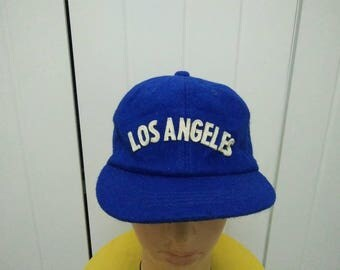 Rare Vintage LOS ANGELES Cap Hat Free size fit all