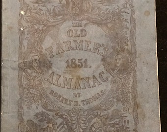 Old Farmer's Almanac, 1850. soft. 1851 Original Edition by Robert B Thomas No. 59
