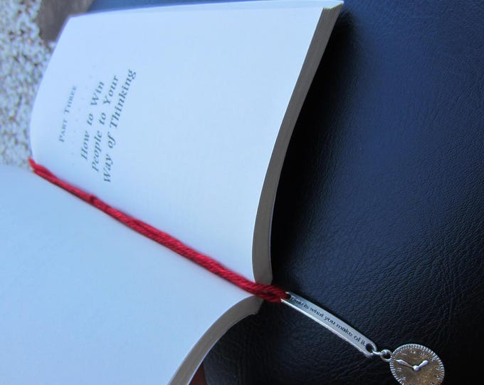 """""""Time is what you make of it"""" Bookmark"""