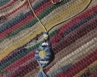 Sunrise shell tassel necklace