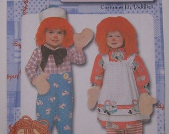 Simplicity 9375 Size AA Raggedy Ann and Andy Costume for Toddlers Sewing Pattern - UNCUT - Sizes 1/2, 1, 2