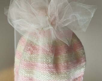 Tulle topper pink hat