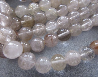 Rutilated Quartz 10mm Round Beads 40pcs
