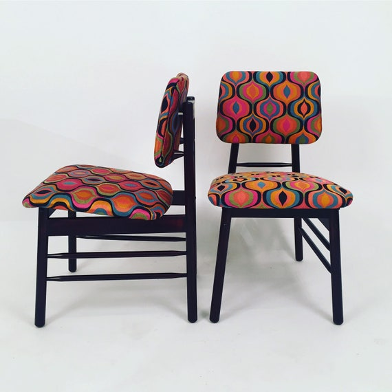 Original restored pair Knoll chairs