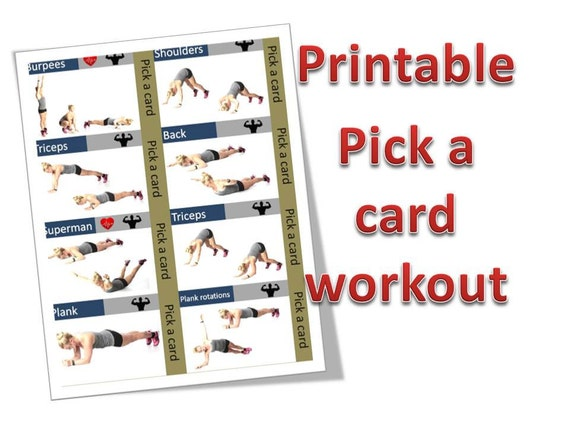 Selective image throughout printable exercise cards