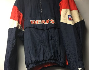 Vintage Mens XL Chicago Bears Pullover Starter Jacket.