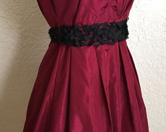 Red Taffeta Strapless Party Dress by RW & Co.  Size 12
