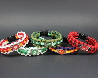 Super Hero Collection #2 of 3 - Cobra Weave Paracord Bracelet (please be sure to read sizing instructions before ordering)