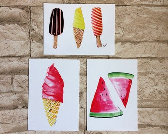 3 he postcards with summer themes