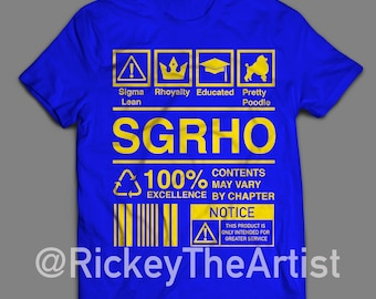 "SIGMA GAMMA RHO ""Ingredients"" Tshirt"