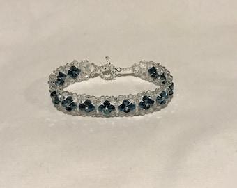Beaded bracelet with Swarovski Bicones