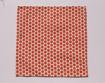 1 cotton handkerchief organic polka dot coral - handkerchief - wipe - reusable Kleenex - durable washable handkerchief - Zero waste