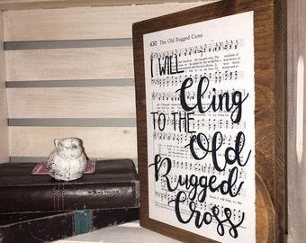 The Old Rugged Cross, Hymn Board, Hymn Art, I Will Cling, Christian