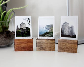 Wood Photo Holder Tall PACKS, Instax Display, Instax Photo Stands, Photo Displays, Picture Holder, Wood Picture Frame, Wooden Photo Stands