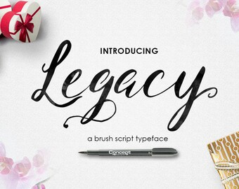 3 digital fonts for 5 dollar - Handwritten and watercolor font download. Calligraphy font. Get these downloadable fonts, perfect for wedding