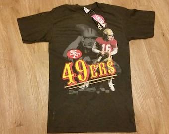 Small Salem sportswear shirt, vinatge salem sportswear, Joe montana, San Francisco 49ers, Men's SMALL