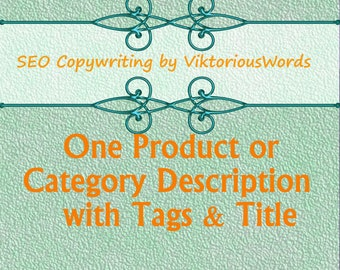 Etsy Shop Product Descriptions Tags Title Etsy Writing Services Copywriting SEO Tips Custom Selling Listing Description Marketing ranking