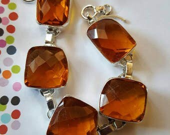 Honey Quartz Bracelet- 8.5 inches!