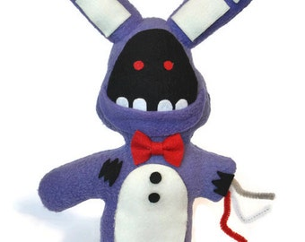 """Broken/ Withered Bonnie ~Handmade Plush~ Five Nights at Freddys 12"""" inch Fnaf"""