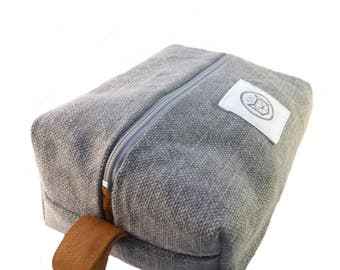 Liverpool toiletry bag in linen and coton
