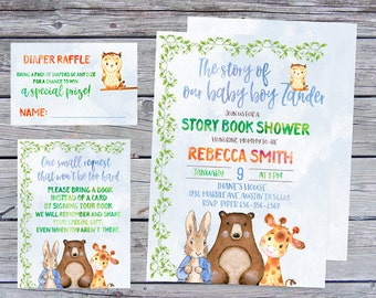 Storybook Baby Shower Invitation, Storybook Baby Shower, Storybook Invitation, Once upon a time baby shower, once upon a time invitation,