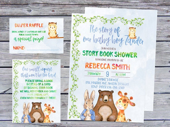 storybook shower  etsy, Baby shower