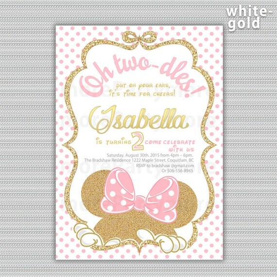 Minnie Mouse Baby Invitations is beautiful invitations design